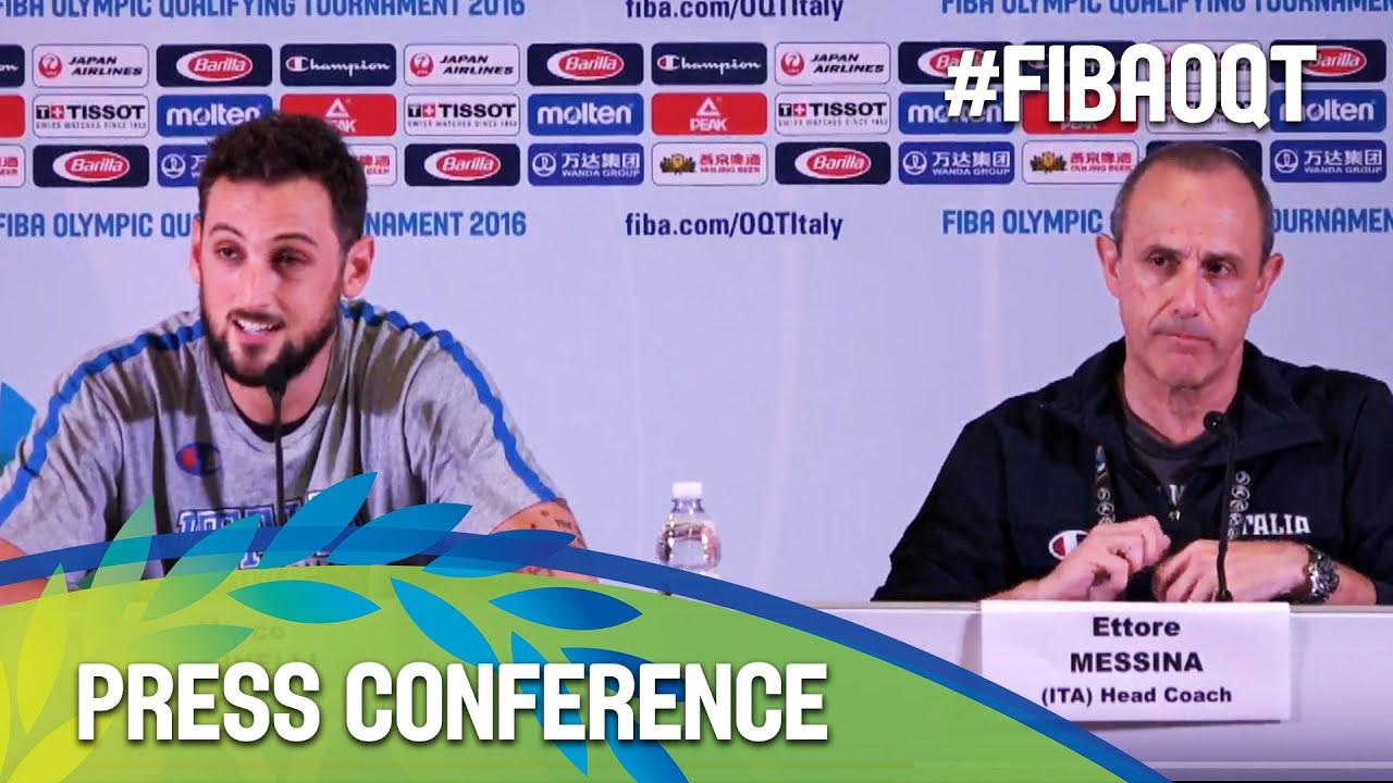 Tunisia v Italy - Press Conference - 2016 FIBA Olympic Qualifying Tournament