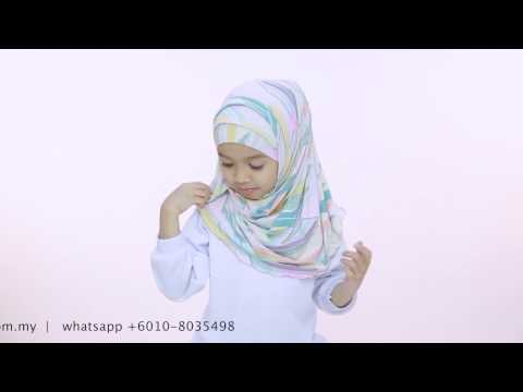 Kids Hijab Tutorial - Yaya Hijab by Aira Kamilia