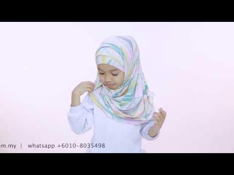 Kids Hijab Tutorial - Yaya Hijab by Aira Kamilia