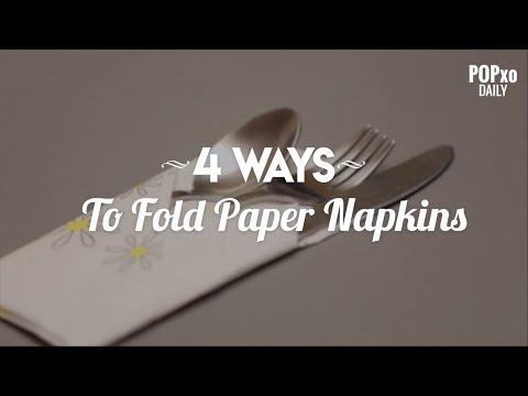 4 Ways To Fold Paper Napkins - POPxo
