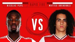 Rapid Fire is back! | Nicolas Pepe v Matteo Guendouzi | Episode 1