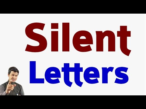 A to Z Silent Letters   All Letters Silent Letters  सभी शब्दों का Silent Letters सीखें part 46.