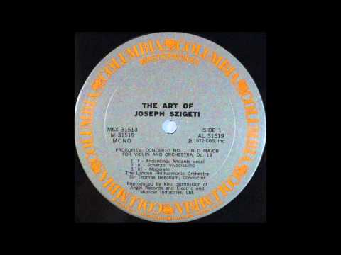 THE ART OF JOSEPH SZIGETI   Prokofiev, Concerto No 1 In D Major For Violin And Orchestra, Op 19 , 19