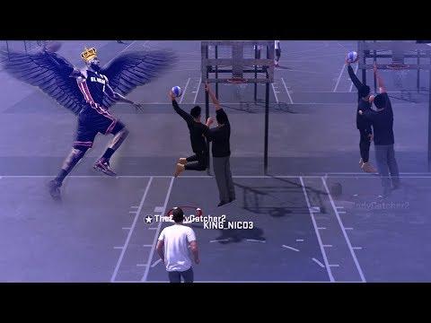 NBA 2K18-LEBRON JAMES CONTACT DUNK!! NASTY DUNKS! MADE HIM FALL!!