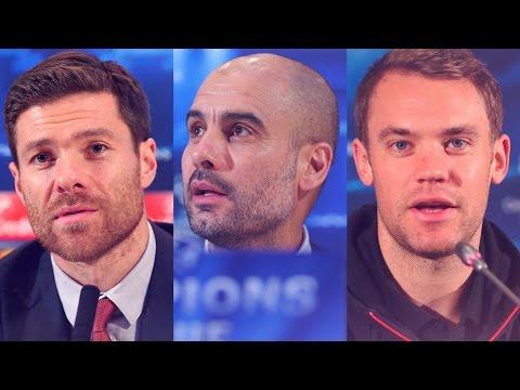 Rueda de prensa de Pep Guardiola, Manuel Neuer y Xabi Alonso