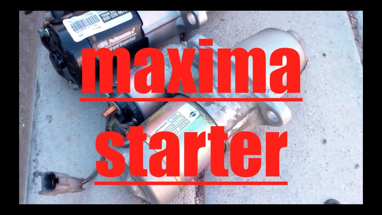 hight resolution of diy how to install replace the starter nissan maxima infiniti i30 fix it angel youtube
