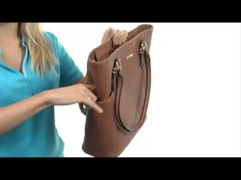 4d04c115f9e5a Calvin Klein Key Item Saffiano Leather Tote w  pockets SKU  8252225 ...
