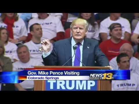 Republican VP nominee Mike Pence visits