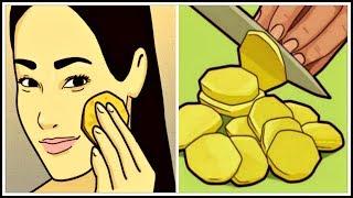 НАТРИ лицо кусочком СЫРОГО картофеля и СМОТРИ что будет От пигментных пятен и морщин