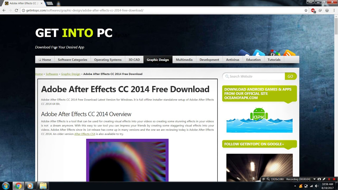 Download and install adobe after effect cc 2014