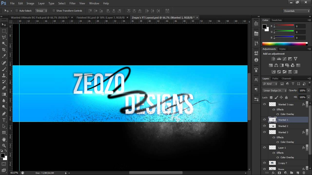 How To: Make A YouTube Background In Adobe Photoshop CS6 ...