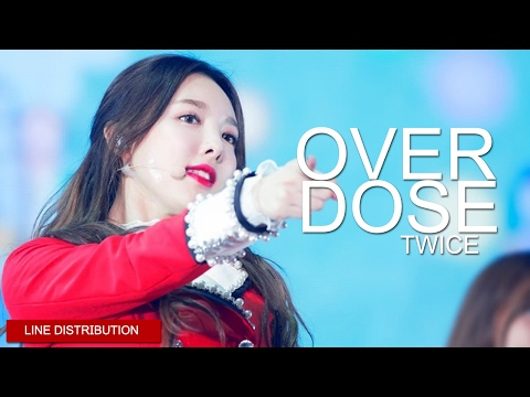 TWICE - Overdose | Line Distribution (Color Coded)