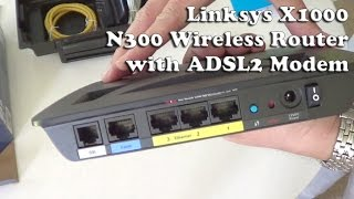 Linksys X1000 Wireless Router Unboxing and Setup