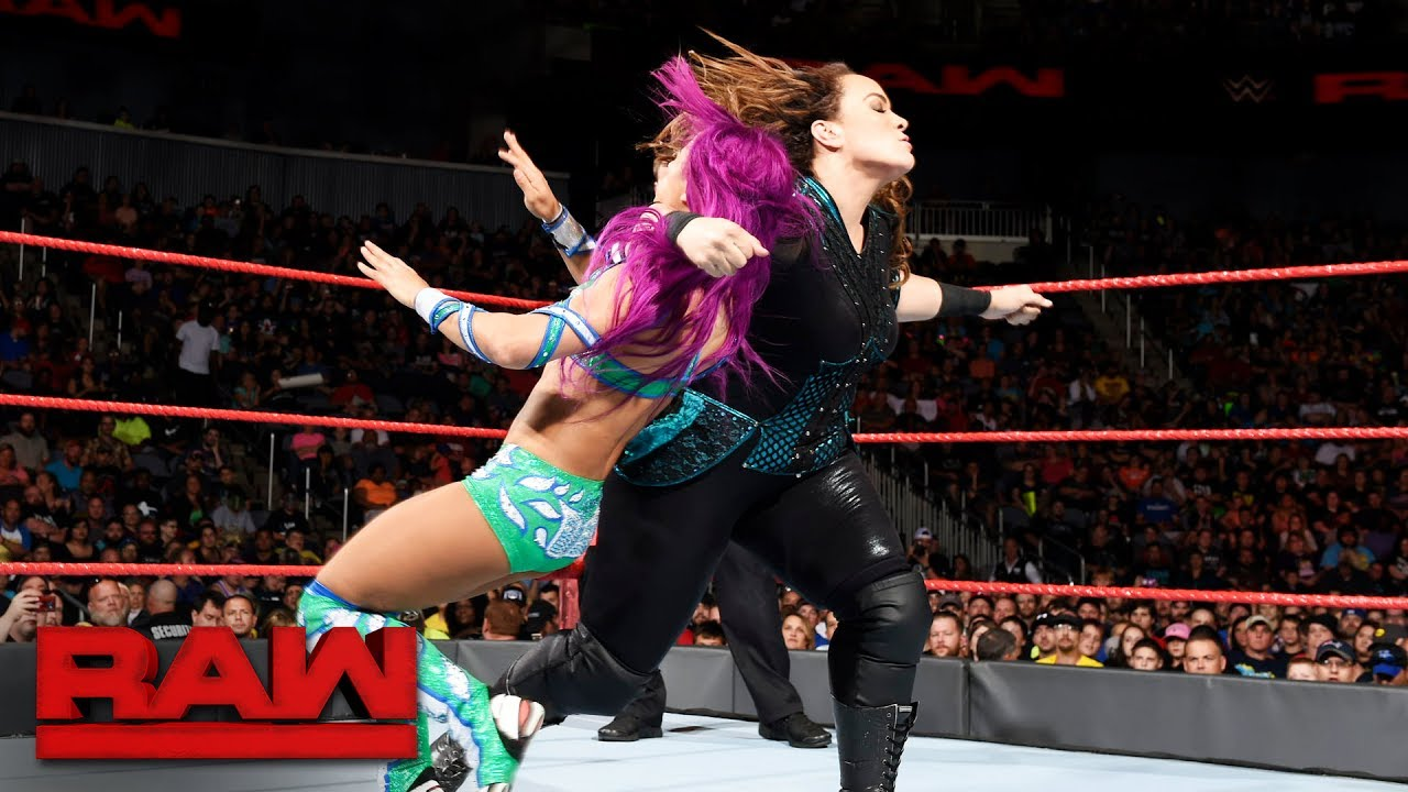 Lucha Libre Youtube Sasha Banks Vs Nia Jax Raw June 19 2017