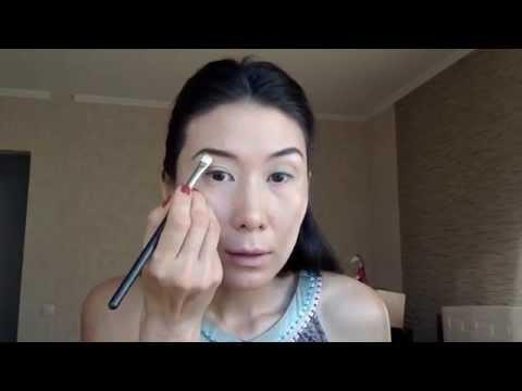Нюдовый макияж для азиатского лица Nude make-up for asian face