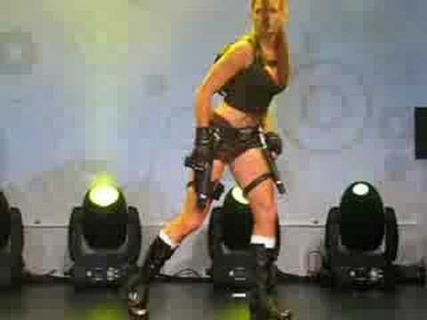 Alison Carroll (Lara Croft)  at Games Convention 2008