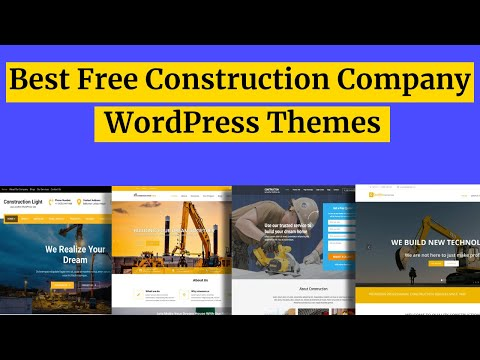 WordPress construction building business theme