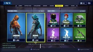 "STREAMERS REACT TO NEW FORTNITE ITEM SHOP SKINS ""LONGSHOT"" & ""INSIGHT"" FORTNITE BATTLE ROYALE"