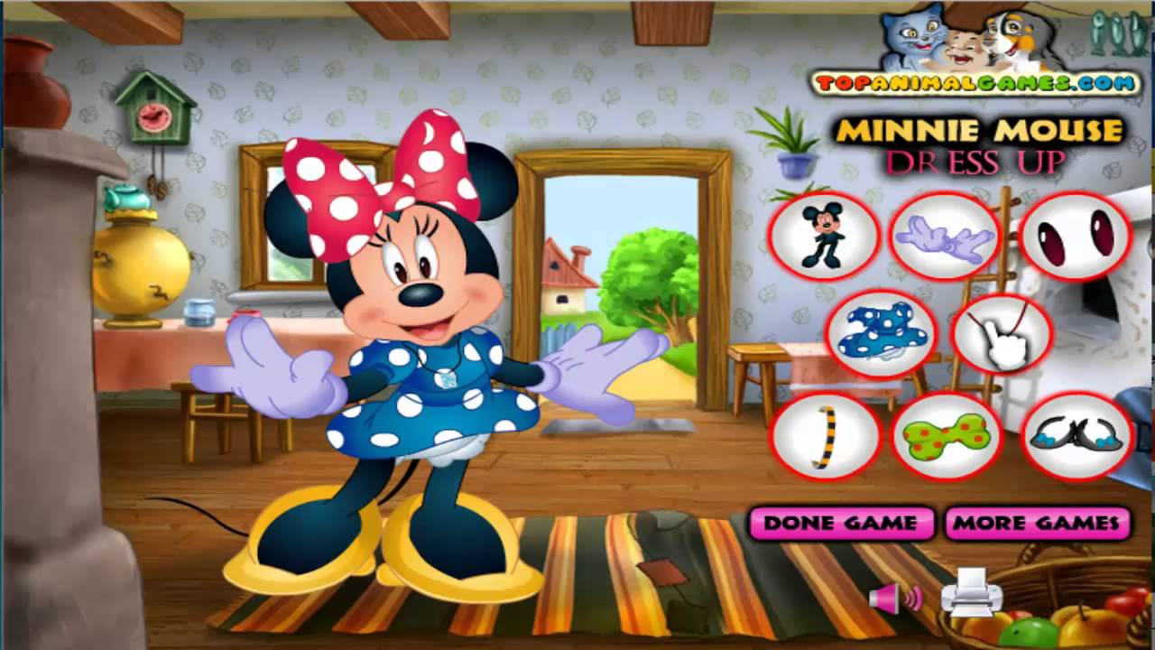 mickey mouse games minnie mouse dress up free girls games kids games hd youtube