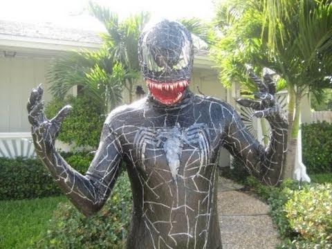Spiderman 3 venom costume youtube for Foto spiderman da stampare
