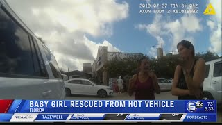 Body camera shows hot car rescue in Florida