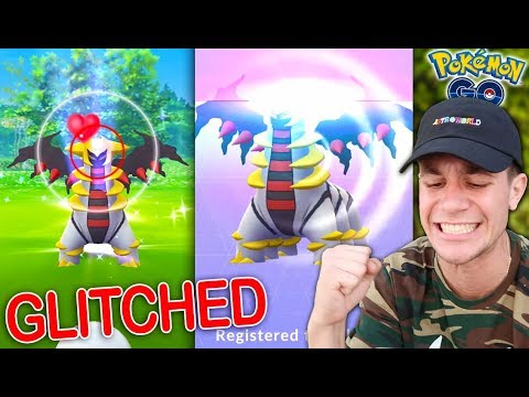 "CATCHING A ""GLITCHED"" GIRATINA IN POKÉMON GO! (Halloween Update NEW Legendary)"