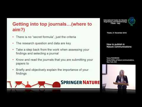 V. Todorovic - How to publish in Nature communications