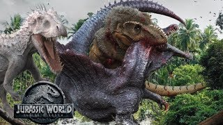 T-Rex Vs I-Rex Vs Spinosaurus | How It Could've Happened | Jurassic World Battle