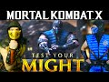 Scorpion & Sub-Zero Play MKX - TEST YOUR MIGHT! (Gameplay & Parody)