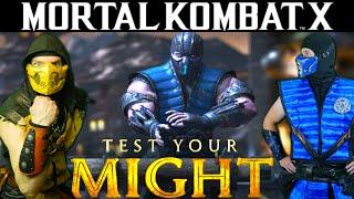 Scorpion & Sub-Zero Play MKX - TEST YOUR MIGHT! (Gameplay & Parody)