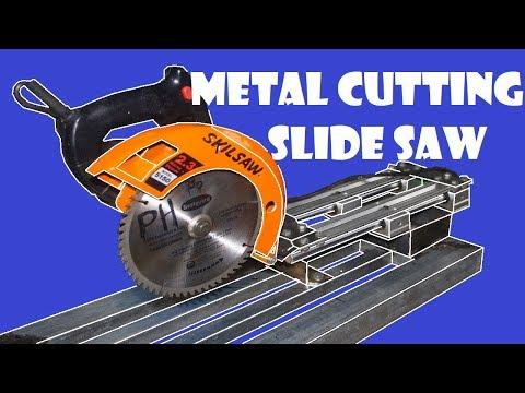 Metal Cutting Slide Miter Saw With Circular Saw