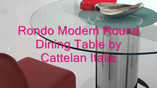 Rondo Modern Round Dining Table By Cattelan Italia