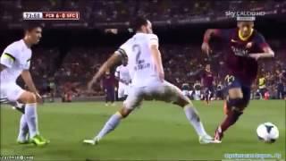 Neymar vs Santos FC ● Second Match for Barcelona - First at Nou Camp 02 08 2013