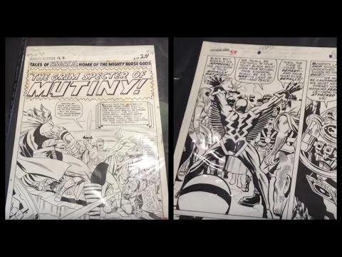 Original Comic Book Art Portfolio at CalComicCon PART 2 - Kirby, Heck, Wood, Thor, Fantastic Four