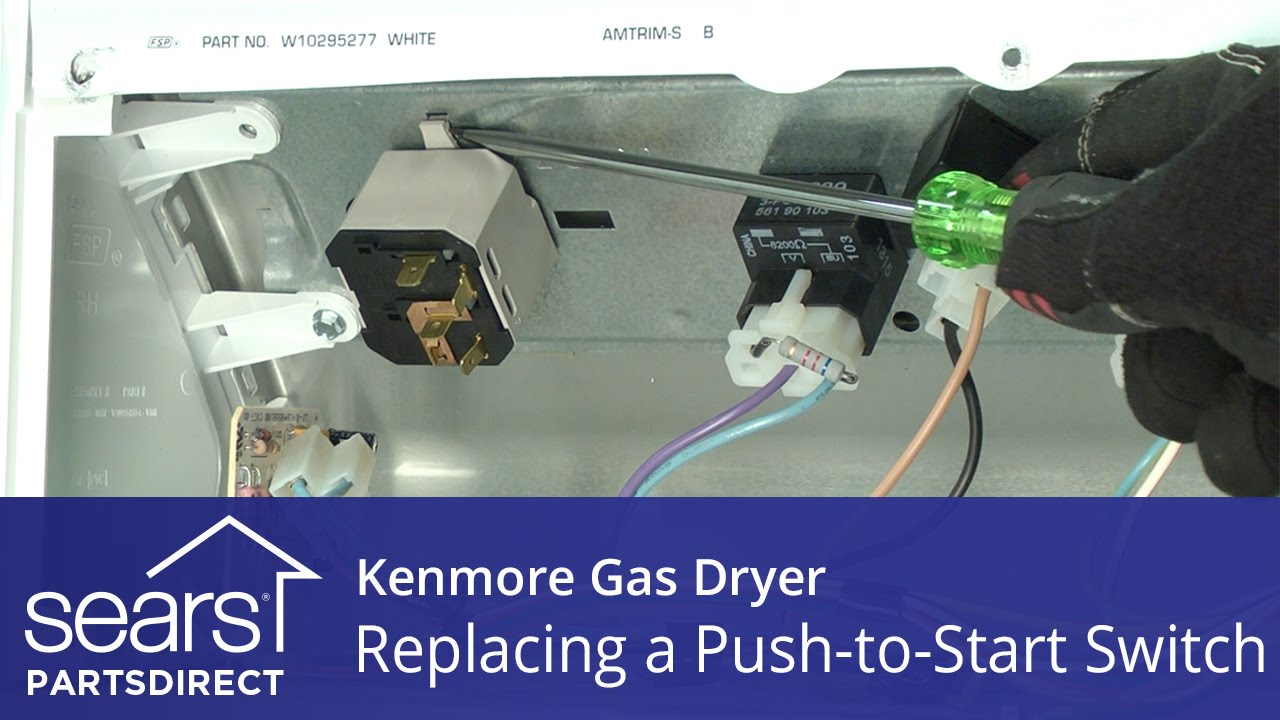 Kenmore 110 64732400 Dryer Wiring Diagram Data Gas How To Replace A Push Start Switch Youtube