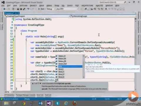 Combining MSIL and C#