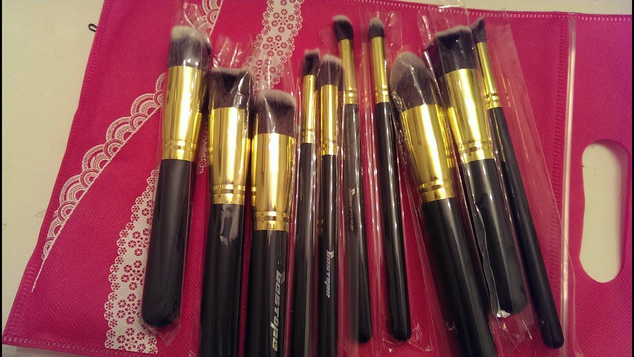 Bestope| Affordable Makeup Brush Set Review - YouTube