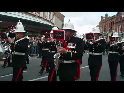 H.M. Royal Marines. Homecoming Parade. Taunton, Somerset. 16th May 2013