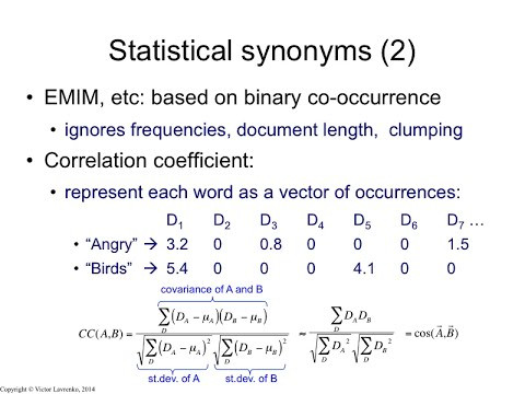 IR4 16 Cosine similarity and the correlation coefficient