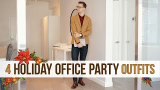 4 Outfits for An Office Holiday Party | Men's Fashion | Men
