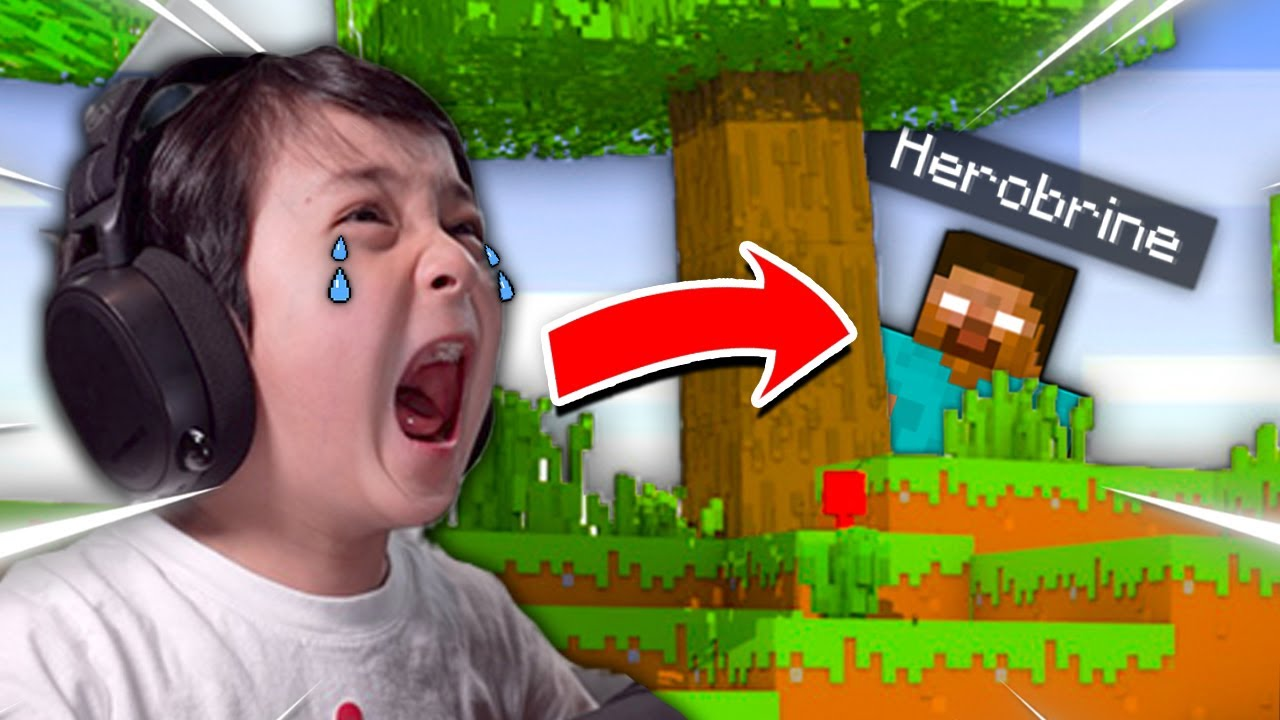 Download Minecraft, But I Made My Little Brother CRY **HILARIOUS!!**