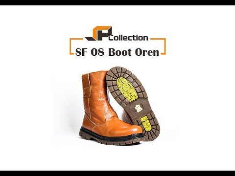 Sepatu Boots Tinggi Dengan Besi Pengaman [SF 08 Boots Oren]