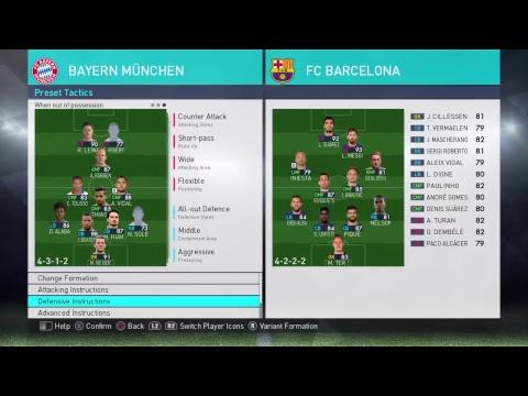 PES 2018 - Bayern Munich - Best Formation & Tactics