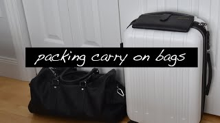 Travel Tips // Packing Carry On Bags