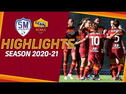 PRIMA DOPPIETTA PER LAZARO   San Marino 2 - 3 Roma   Serie A Femminile Highlights 2020-21