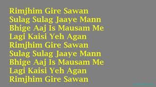 KARAOKE:~Rimjhim Gire Sawan