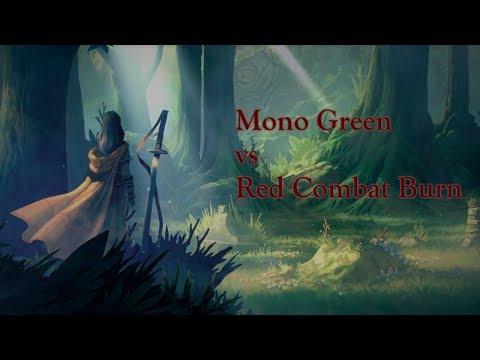 Faeria - Mono Green vs Red Combat Burn (English)  