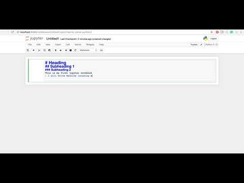 How to Open Jupyter Notebook from Terminal on Mac, some Linux commands on terminal, How to use Markd