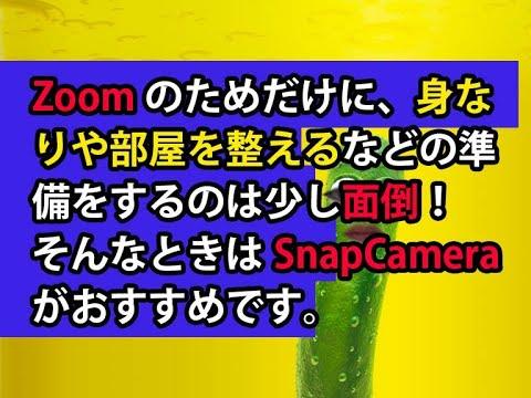オンラインビデオチャット、Zoomなどに顔を出すのが抵抗がある!そんなときはSnapCameraがおすすめです。