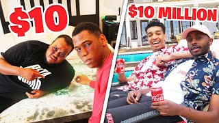 $10 HOTEL VS $10,000,000 HOTEL CHALLENGE